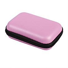 Portable Mini Storage Bag Organizer Case For Earphone (Pink)