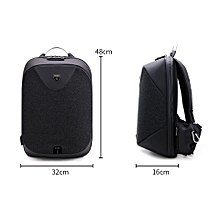 15.6 Black Laptop backpack men Waterproof Mochila Casual Travel Business USB Back pack Male Antitheft bag