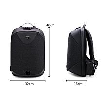 490857918c8 15.6 Black Laptop backpack men Waterproof Mochila Casual Travel Business  USB Back pack Male Antitheft bag