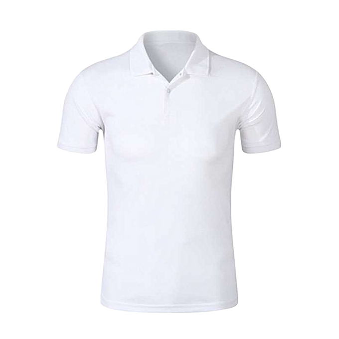 Generic White Plain Polo T-shirt @ Best Price | Jumia Kenya