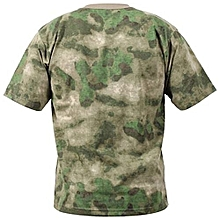Military Camouflage T Shirt Men Breathable Quickly Dry Us Army Combat T-Shirt Outwear T-Shirt - Multi