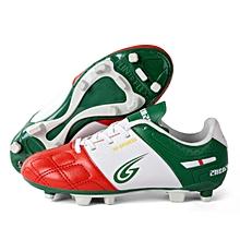 Zhenzu Outdoor Sporting Professional Training PU Children Football Shoes, EU Size: 34(Red)