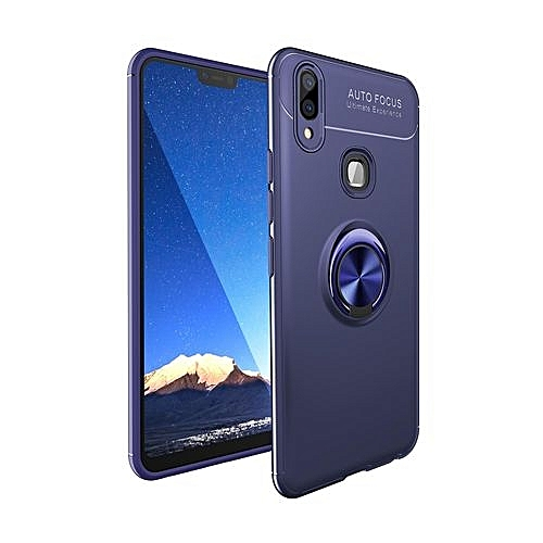 Phone Case For Vivo Y91,Iron Soft TPU Man Armor Shield Case,Car Holder  Stand Magnetic Bracket Case Finger Ring Hybrid Silicone +TPU Cover Case For