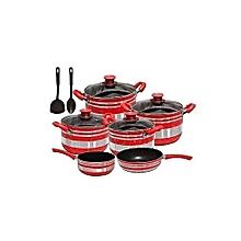 12pcs set Non stick cookware (10+2pcs)
