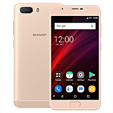 R1S 5.5-inch 2.5D (3GB, 32GB ROM) Android 7.0 Nougat, 5000mAh, 13MP & 5MP + 5MP, Dual Sim 4G LTE Smartphone - Gold