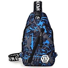 Waterproof Oxford Cloth Sling Bag For Men - Blue & Black