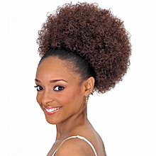 Natural Curly Afro Dark Brown -  HairBun