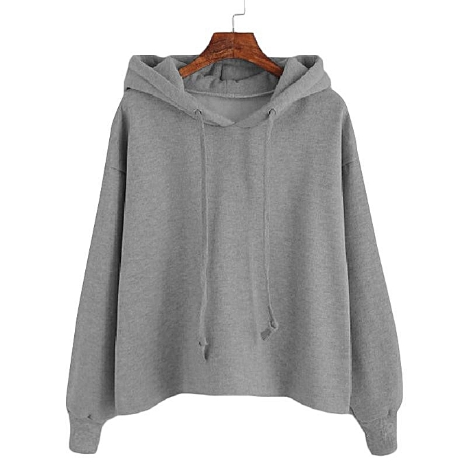 ebc37603521e Oversized S-4XL Womens Autumn Hoody Hoodies Pullover Long Sleeve  Sweatshirts Grey