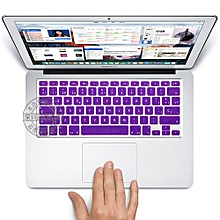 """13"""" Air Skin, US Type Spanish Silicone Keyboard Cover For 2008-2015 Macbook 13.3"""" 15"""" Pro Reitna/Imac G6, Purple"""