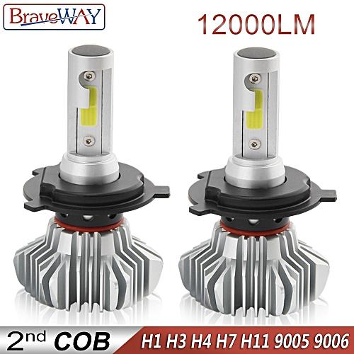 LED Light Bulb for Car H4 LED H7 Headlight Lamps Running Lights H7 H11 H1  LED Bulb HB3 BH4 9005 9006 12000LM 12V Moto(Purple)