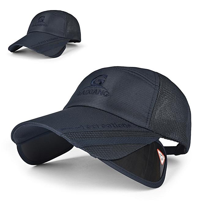 Unisex Men Women Polyester Mesh Wide Brim Baseball Cap Adjustable  Breathable Outdoor Hat 571d3ee6d19