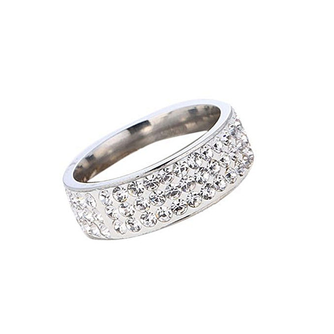 cdf71a5784b Kakkater Women Fashion Full Diamond Ring Gold Silver Ring Gift For Lover  Size 10