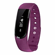 ID101 Smart Bracelet With Heart Rate Monitor Wristband Bluetooth Fitness Tracker(Purple)