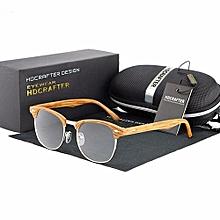 Vintage Men Women Retro Eyeglasses Frame Full-Rim Glasses Box Eyewear Clear Lens Wooden