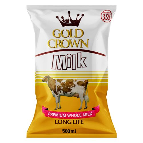 Gold Crown Long Life Milk Pouch - 500ml