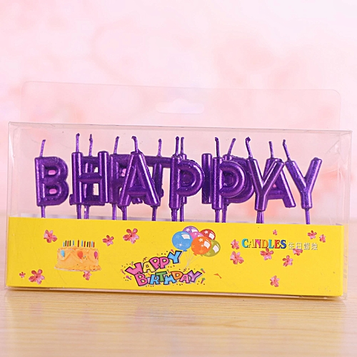 creative happy birthday letter candle unscented decorative wax paraffin colorful candles for birthday party cake decoration
