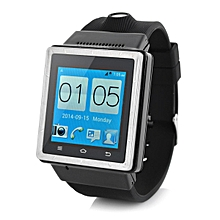 S6 Dual Core Android4.0 3G Watch Phone w/ 512MB, 4GB ROM - Black
