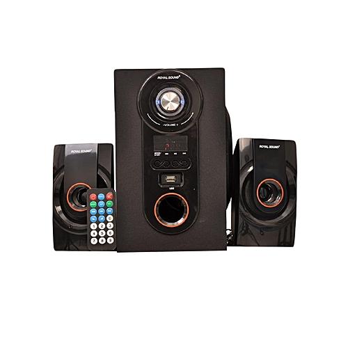 RS269 2.1CH HI-FI Home Theatre System - Black & Orange.