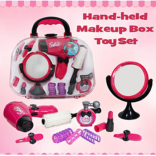 Generic Girls Beauty Salon Toy Vanity Cosmetic Bag Carry Case Hair