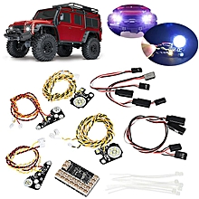 LED Front Rear lights + IC Lamp Group Headlight Lamp Kit For TRAXXAS Trx4 RC CAR
