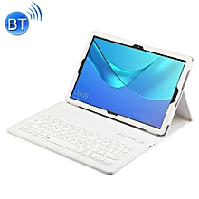 Detachable Bluetooth Keyboard + Litchi Texture Horizontal Flip Leather Case for Huawei MediaPad M5 Pro / M5 10.8 inch, with Holder(White)