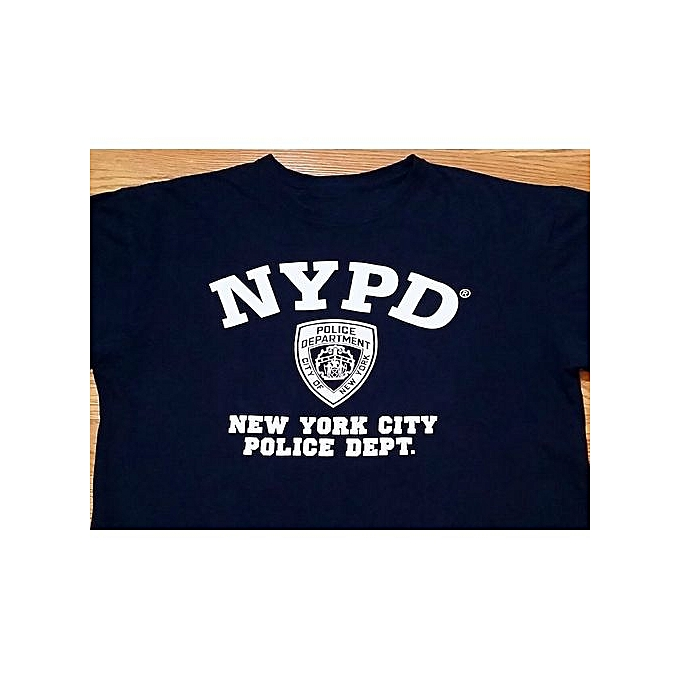 bf9ee8328 Generic NYPD T-shirt (L) Dark Blue Color / 100% Cotton / Logo On ...
