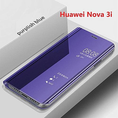 For Huawei Nova 3i/Nova 3e Cover Smart Plating Mirror Flip Case Clear View  Housing Shell