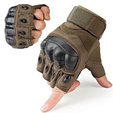 Tactical Gloves Military Fingerless Hard Rubber Knuckle Half Finger Glove