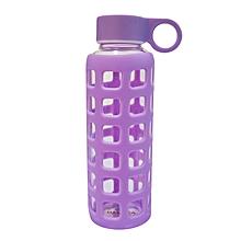 Glass Water Bottle - 350ml - Purple