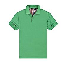 New Summer Fashion Casual Men's Short Sleeves Polo Shirts-Green