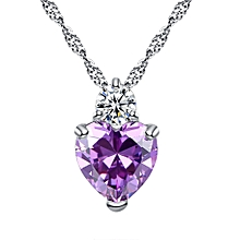 Gift Valentine's Day Love Rhinestone Crystal Jewelry Heart Link Pendant Women's Necklace