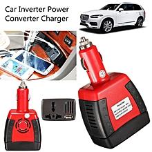 Portable Car Power Inverter 150W 12V DC to 110V/220V Charger Adapter