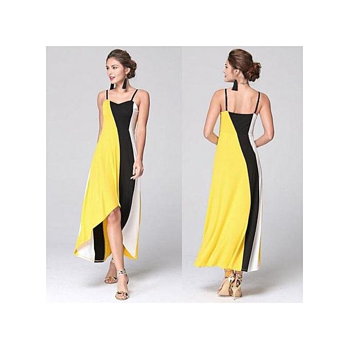 aa02c811bb0b Hiaojbk Store Women s Summer Boho Long Maxi Dress Evening Cocktail Party  Beach Dress YE L ...