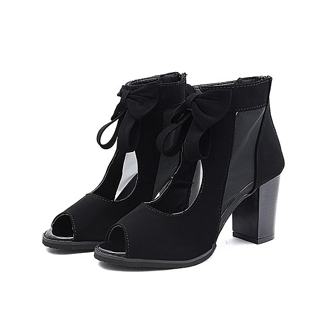 316d8875713a Generic Summer Lace Up Bow Women Ankle Boots   Best Price