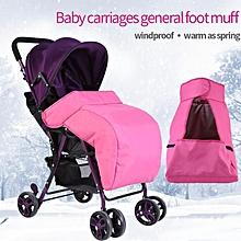 Waterproof Universal Baby Stroller Foot Muff Buggy Pram Pushchair Snuggle Cover Windproof Rose