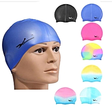 Unisex Adult Silicone Swim Cap Flexible Waterproof Elasticity Hat Men Women Kid Rainbow