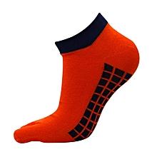 Men Separated Toes Cotton Socks Five Fingers Toes Non-Slip Socks Summer Thin Short Tubes Sock