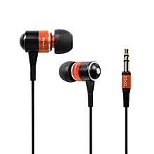 Olivaren Awei Q3 Headphone Earphone Super Bass For Cellphone Mp3 Mp4 OR -Orange