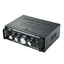 AK698C HiFi Stereo Audio 180W + 180W Power Amplifier, Support 2CH MIC Input, AC 220V / DC 12V(Black)