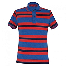 Red Stripped Mens Polo Shirts