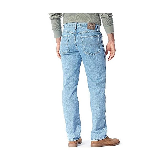 a9857caade Wrangler. Blue Authentics Men s Classic 5-Pocket Regular Fit Jean 38W 30