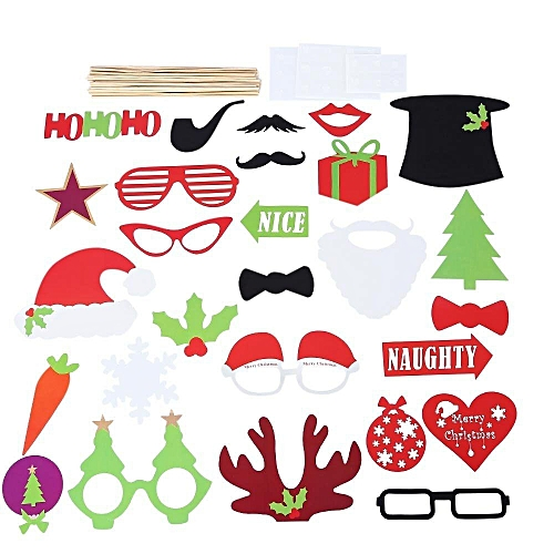 Buy Generic 27pcs Colorful Photo Booth Props Christmas Decorations
