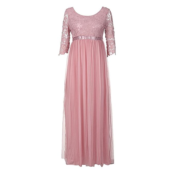 6c9ba2bb0f30 Xiuxingzi Women Chiffon Bridesmaid Long Maxi Evening Prom Gown Lace Long  Dress PK M
