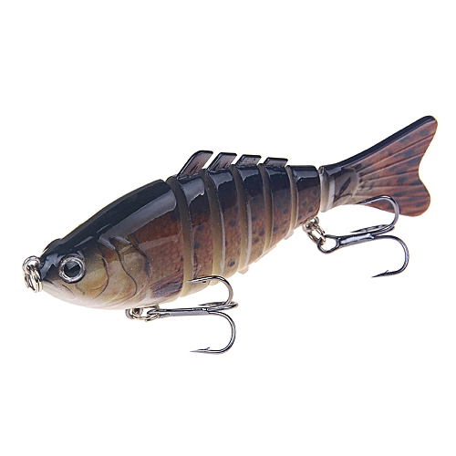 100mm Fishing Lures Articulated Bionic Bait 7 Segment Simulation Hard Fish  Lures Double Hooks Artificial Attractive Baits Fishing Tackle