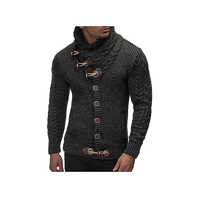 dfdb5d09837 Fashion Men Thick Wool Sweater - Deep Grey   Best Price