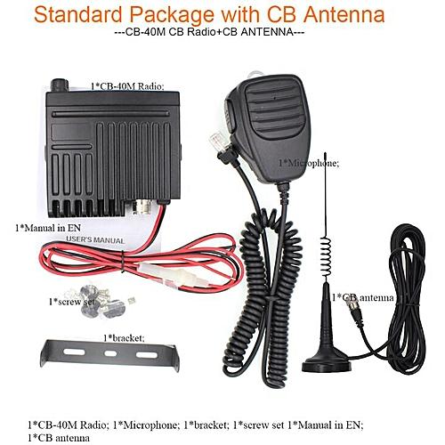 generic car radio station cb-40m 26 965-27 405mhz 8w citizen band cb radio  mobile transceiver amateur compact am/fm walkie talkie ac-001