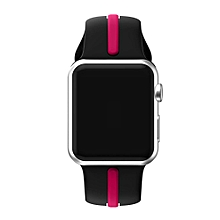 Sports Silicone Bracelet Strap Band For Apple Watch Series 1/2 38MM-Hot Pink