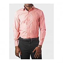 Red Stripped Mens Long Sleeved Shirts