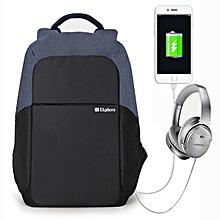 Ekphero® Men Anti Theft Backpack Waterproof Travel Bag With USB Charging Port & Audio Port