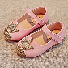 92ca8648a6362 bluerdream-Toddler Kids Girls Baby Beading Princess Crown Sandals Single  Shoes-Pink